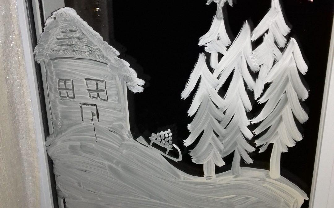 Recette de peinture de fenêtre pour Noël