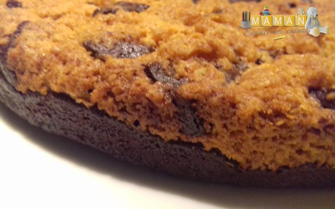 Recette gâteau mi brownie, mi cookie