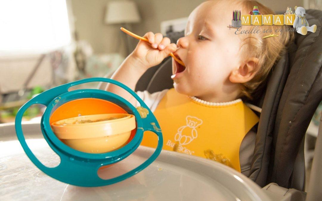 Le bol impossible à renverser pour faciliter les repas avec bébé avec la boutique Un rêve pour bébé
