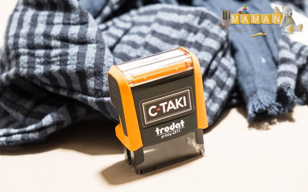 Le tampon C-Taki, un tampon encreur pour marquer les vêtements de vos enfants en un clic