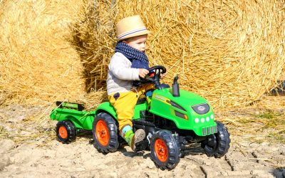 Mon très chouette tracteur à pédales FALK