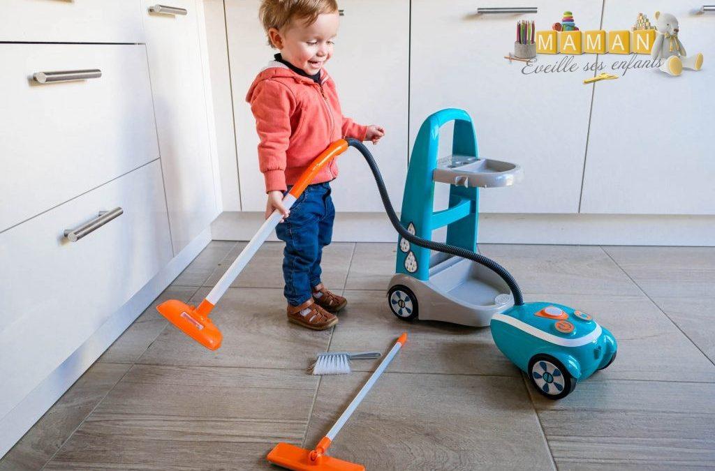 Le chariot de ménage SMOBY, un jouet pour les garçons ET les filles…