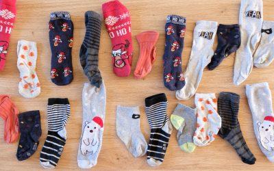 Des chaussettes pour de la motricité fine