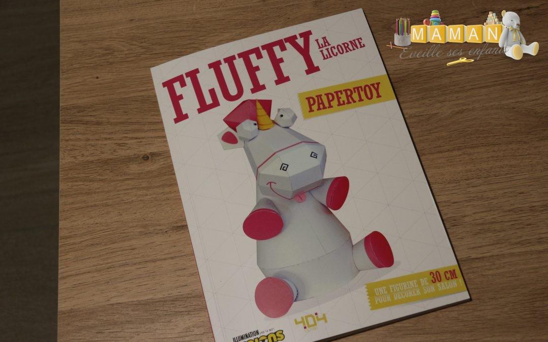 Fluffy la licorne,  Papertoy aux éditions 404