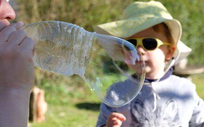 Recette de bulles géantes au jardin!