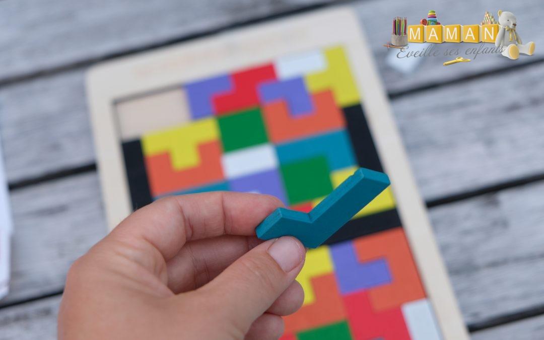Tetris en bois MECAPUZZLE