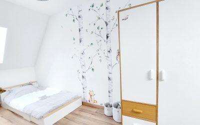 La décoration murale de la chambre du Little avec Mon Lit Cabane
